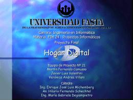 Hogar Digital - Universidad FASTA