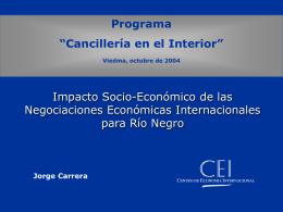 Río Negro - Centro de Economía Internacional