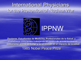 International Physicians for the Prevention of Nuclear War IPPNW