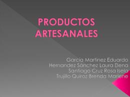 Eq. 12 Productos artesanales
