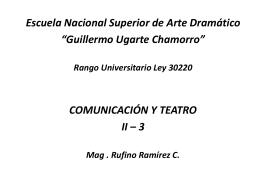 actor - Educación, Arte, y Turismo