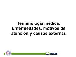 Terminología médica. Enfermedades y causas externas