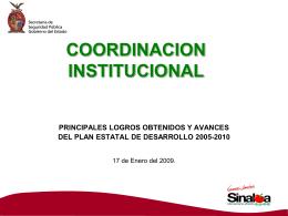 coordinacion institucional principales logros