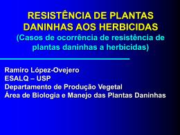 Resistência de plantas daninhas aos herbicidas - HRAC-BR