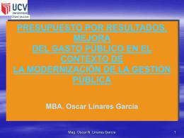 3. Clase GPR - Maestria en Gestión Pública UCV