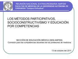 Métodos participativos y socioconstructivismo