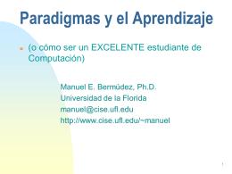 Paradigmas y el Aprendizaje ()