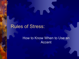 Rules of Stress: