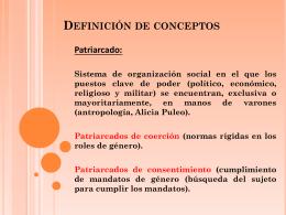 Definición de conceptos - especialidad-genero-y