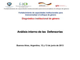 ANALISIS INSTITUCIONAL INTERNO