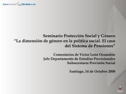 Seminario Protección Social y Género