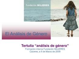 "Tertulia ""análisis de género"""