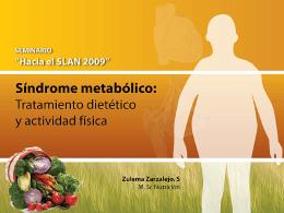 Síndrome metabólico: Tratamiento dietético y actividad física