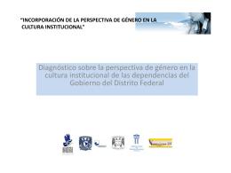 Consulta el diagnóstico sobre perspectiva de género