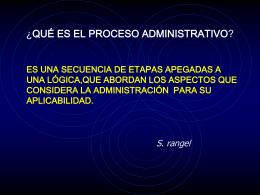 proceso administrativo - Plataforma Educativa JM