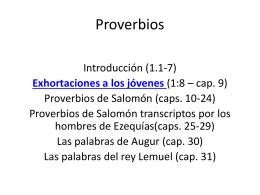 Lecciones espirituales extraídas del libro de los Proverbios
