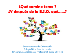 Orientación académica y profesional para 4º E.S.O.