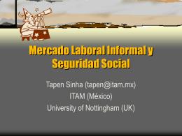 Mercado Laboral Informal Y Seguridad Social