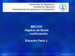 06 Algebra de Boole (C) - Laboratorio de Computación Universidad
