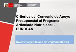 Verificación de compromisos del Convenio EUROPAN