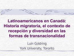 Latinoamericanos en Canadá: Inserción económica y