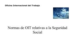 Normas de OIT relativas a la Seguridad Social
