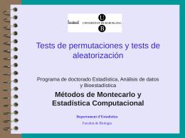 Tests de permutaciones y tests de aleatorización
