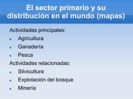 El sector primario y su distribución en el mundo (mapas)
