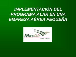 implementación del programa alar en una empresa pequeña