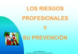 Los Riesgos Profesionales y su Prevención.