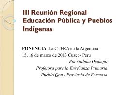 Educación Pública y Pueblos Originarios