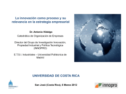 Conferencia Innovacion - Cátedra Innovación y Desarrollo