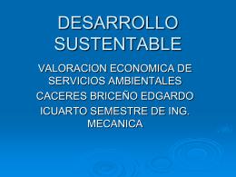tema 4.7. valoración económica de servicios ambientales.