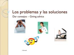 Los problemas y las soluciones