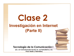 clase2 - Página de Tecnología de la Comunicación