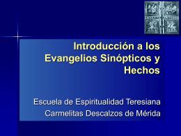 sinopticos hechos - Carmelitas Descalzos Venezuela