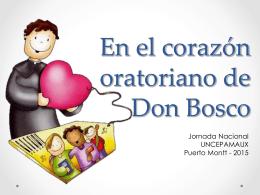 En el corazón oratoriano de Don Bosco