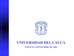 induccionoctubre02 - Universidad del Cauca