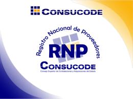 Registro Nacional de Proveedores ( Consucode)
