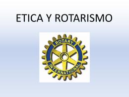 ETICA Y ROTARISMO - Rotary E-Club