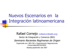 Escenarios de Profundización de la Integración latinoamericana