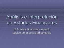 Analisis e Interprestacion de EF
