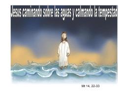 Jesus caminando sobre las aguas