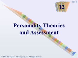 Personality Theories and Assessment