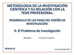 SESIÓN 02 EL PROBLEMA DE INVESTIGACION
