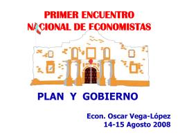 Plan y Gobierno