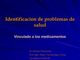 Identificación de problemas de Salud vinculados con los