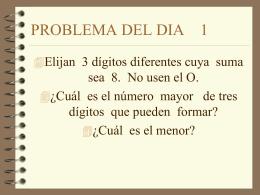 PROBLEMA DEL DIA 1 - Colegio Hernán Olguín