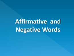 Affirmative and Neg Words Intro