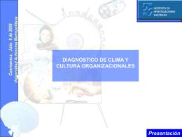 Resultados del Diagnóstico de Cultura y Clima Organizacionales